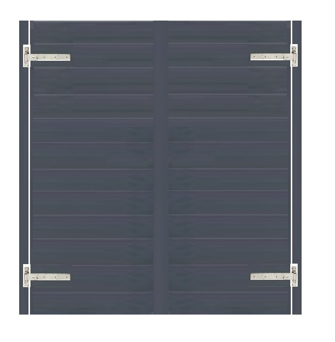 Anthracite Double uPVC Gates