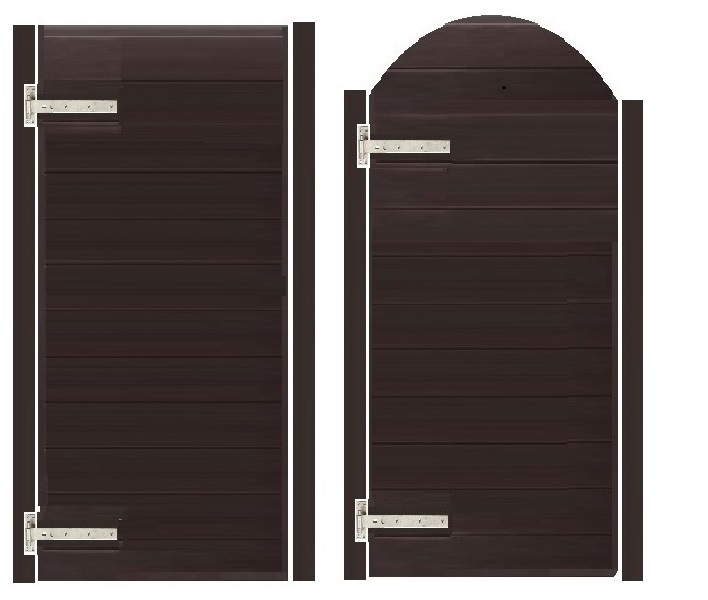 Walnut uPVC Gates